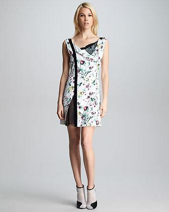 3.1 Phillip Lim Asymmetric-Placket Floral Dress