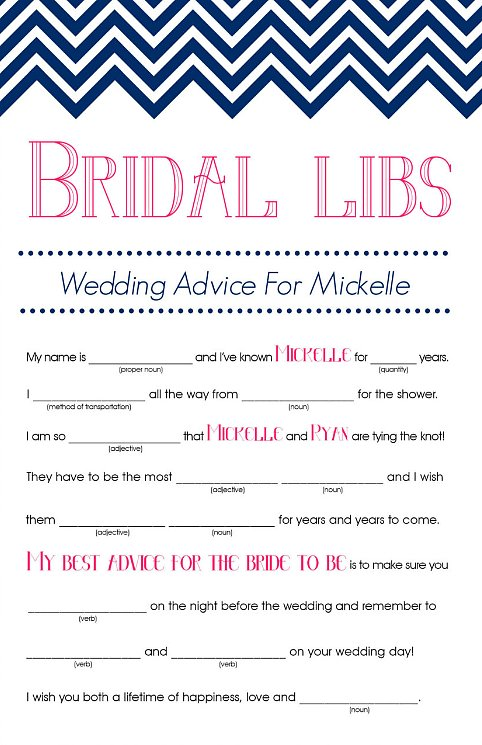 Obsessed image in bridal shower mad libs free printable