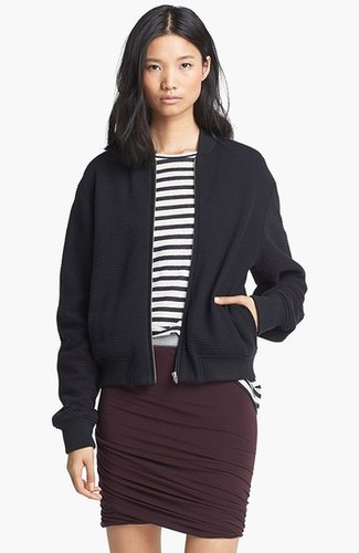 T by Alexander Wang Ottoman Stitch Bomber Jacket