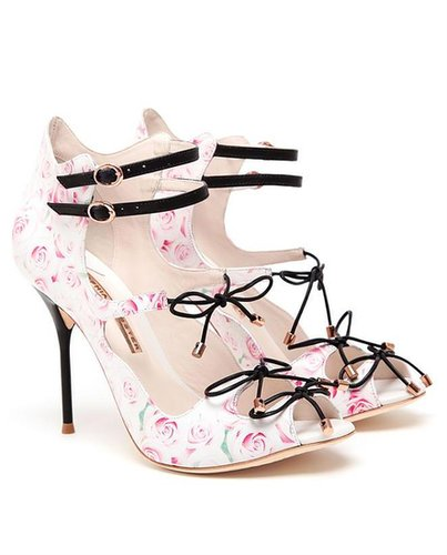 SOPHIA WEBSTER Rose Printed Leather Pumps