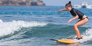 Ashley Greene and Vanessa Hudgens Ride the Wave in Their Bikinis