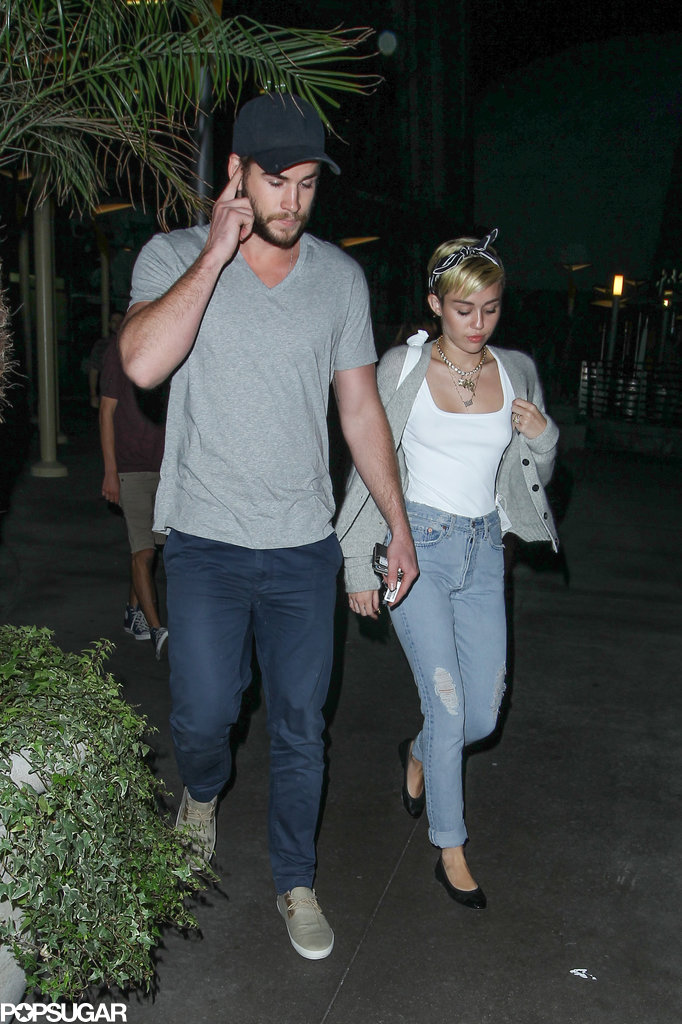 Miley Cyrus and her fiancé, Liam Hemsworth, had a romantic date night in LA.