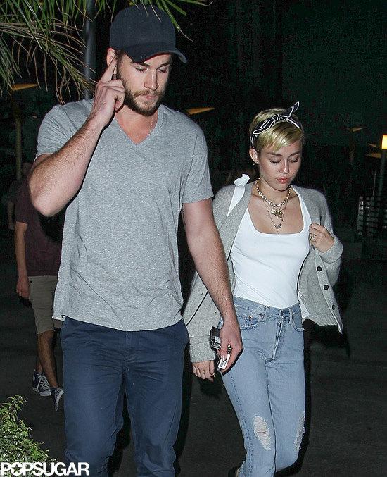 Miley Cyrus and Liam Hemsworth had a date night in LA.
