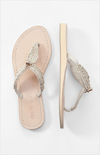 CocoBelle® mother-of-pearl thong sandals
