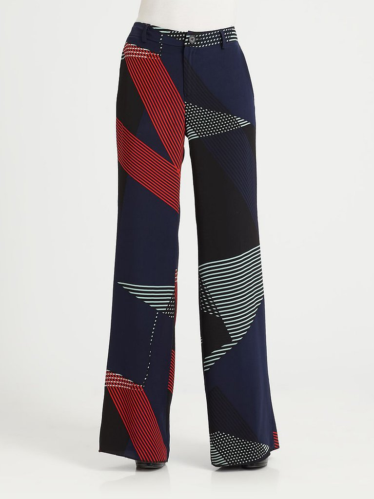 The abstract lines and wide-leg fit of this 10 Crosby pair ($395) create a retro vibe we're dying to try.