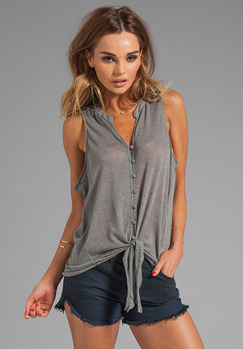 Soft Joie Cameo Tie Front Tank