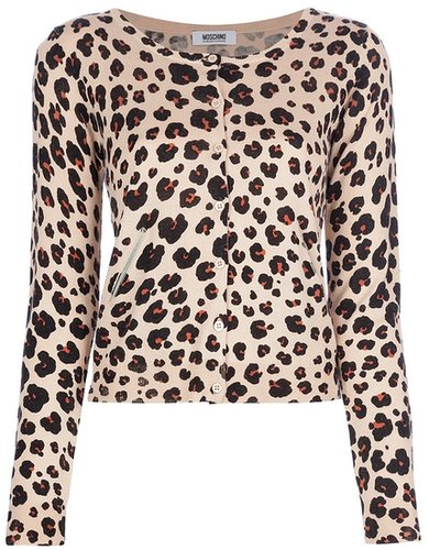 Moschino Cheap & Chic leopard print cardigan
