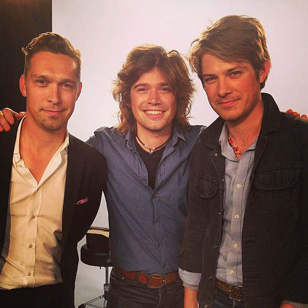 The boys of Hanson posed for the camera before heading to the O