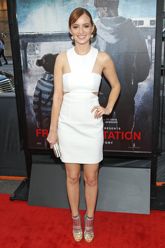 Ahna O'Reilly's white cutout Paule Ka dress and metallic cutout Jimmy Choo booties made quite the duo at the 2013 Los Angeles Film Festival.