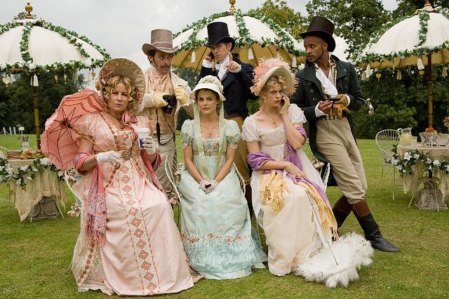Austenland  Who's starring: Keri Russell, Jennifer Coolidge, and Bret McKenzie Why we're interested: When a woman (Russell) who's obsessed with Mr. Darcy heads to a Jane Austen-themed resort, we get a witty romantic comedy with a nod to iconic literary characters. When it opens: Aug. 23 Watch the trailer for Austenland.