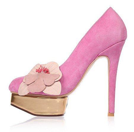 Free shipping Stitching high heels female flowers shoes true sheepskin low to help thin heel shoes waterproof Taiwan Rou_High sh