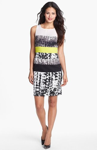 BCBGMAXAZRIA Multi Print Sheath Dress