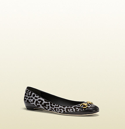 Carlie Leopard Printed Horsebit Ballet Flat