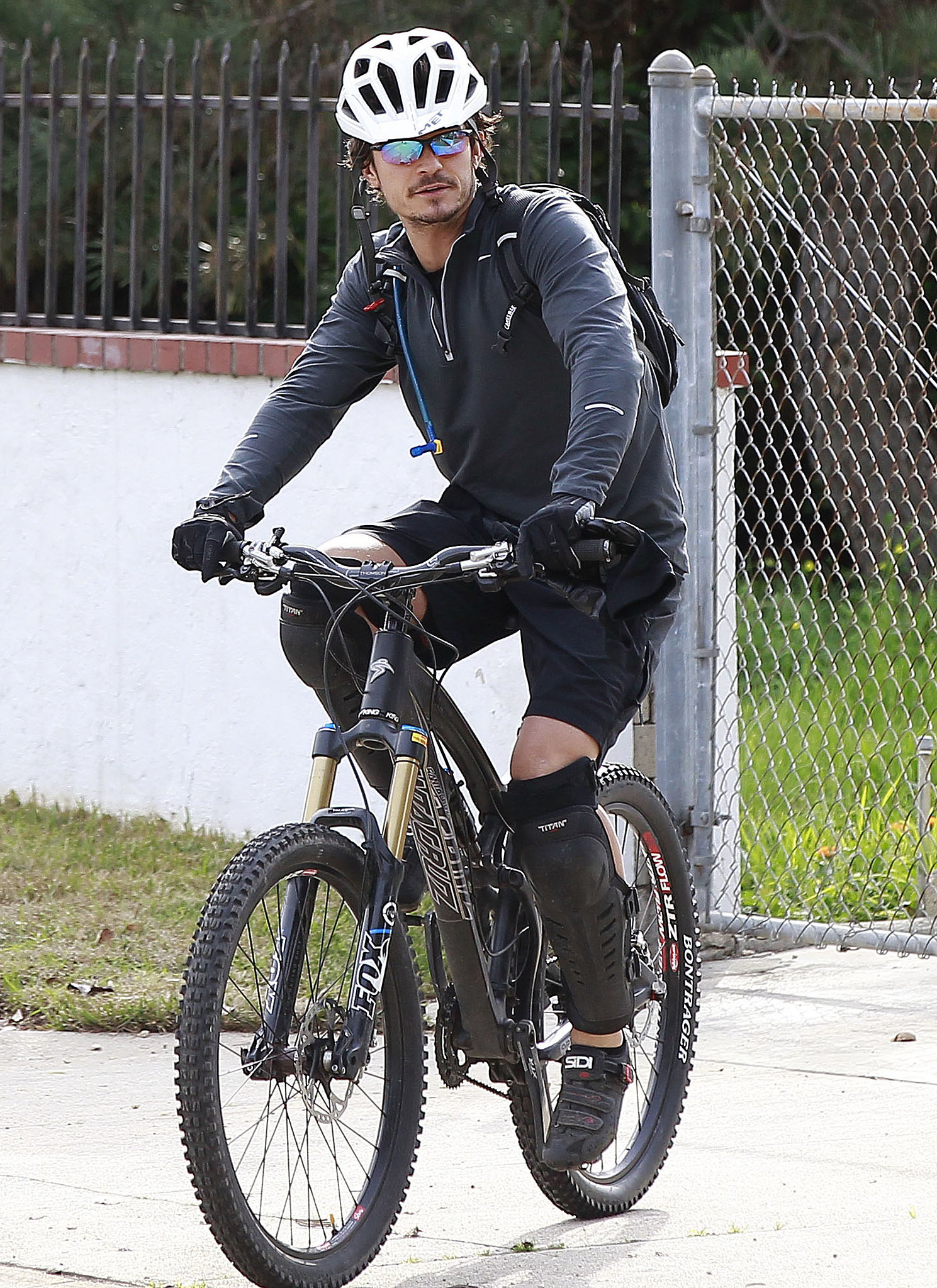 Orlando Bloom looked like he was prepared for a serious ride in February in LA.
