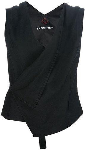 A.F.Vandevorst 'Glowing' asymmetric waistcoat