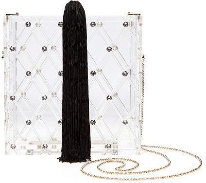 Charlotte Olympia Clear Crystal Matchbox Handbag