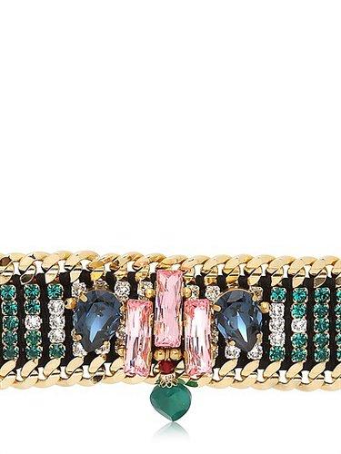 Graphic Deco Embellished Bracelet