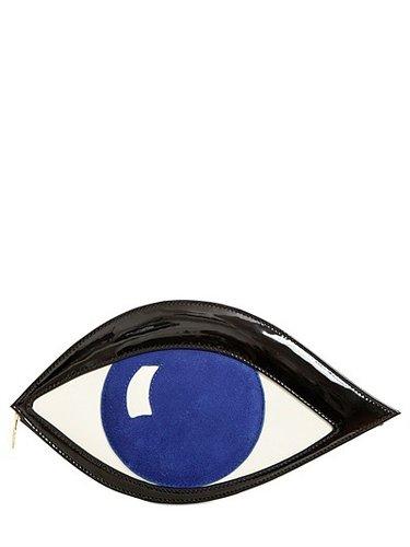 Eye Patent Large Clutch