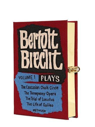 Bertolt Brecht Cotton Book Clutch