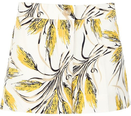 Tory Burch wheat print shorts