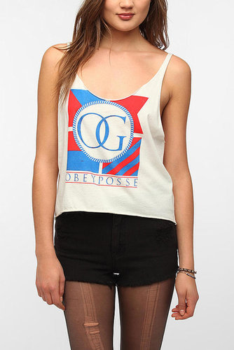 OBEY The Posse Flag Cropped Tank Top