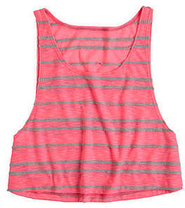 Mixed Stripe Crop Tank