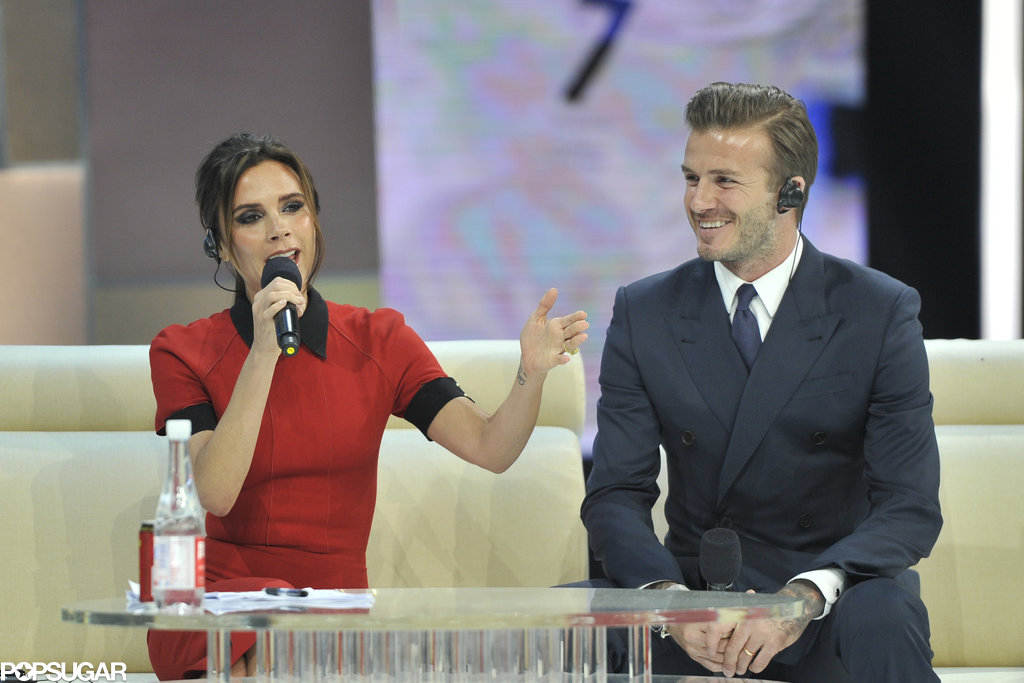 David Beckham and Victoria Beckham appeared on China Central Television.