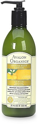 Avalon Organics Hand & Body Lotion Lemon
