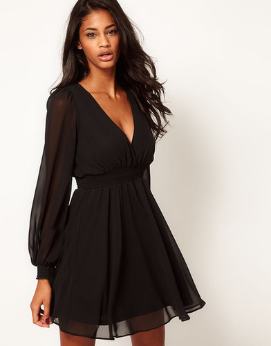 ASOS Wrap Dress With Long Sleeves