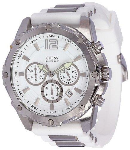 GUESS - U0167G2 (Silver/Silver/White Silcone) - Jewelry