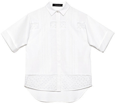 Preorder Thakoon Solid Poplin Cropped Shirt
