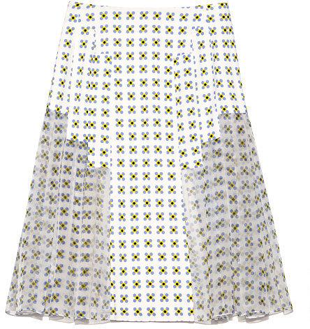 Preorder Thakoon Geo Printed Crepe Pleated Skirt