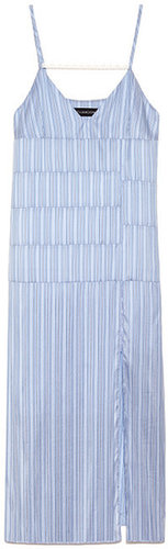 Preorder Thakoon Striped Shirting Camisole Panel Dress