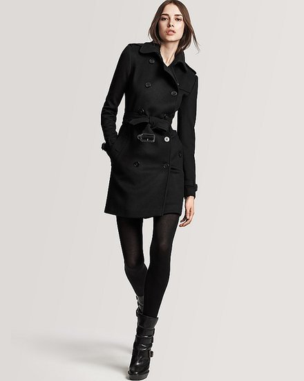 Burberry London Buckingham Wool/Cashmere Double Breasted Belted Coat