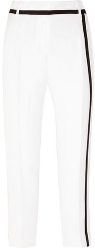 J.Crew Café cropped silk and linen-blend Capri pants