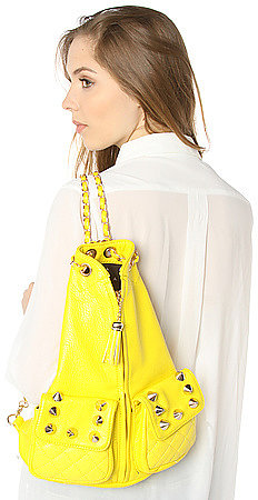 Street Level The Jagged Pill Backpack in Vibrant Yellow