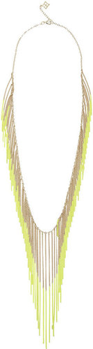 Neon Chain Fringe Necklace