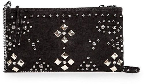 Mango Studded suede bag
