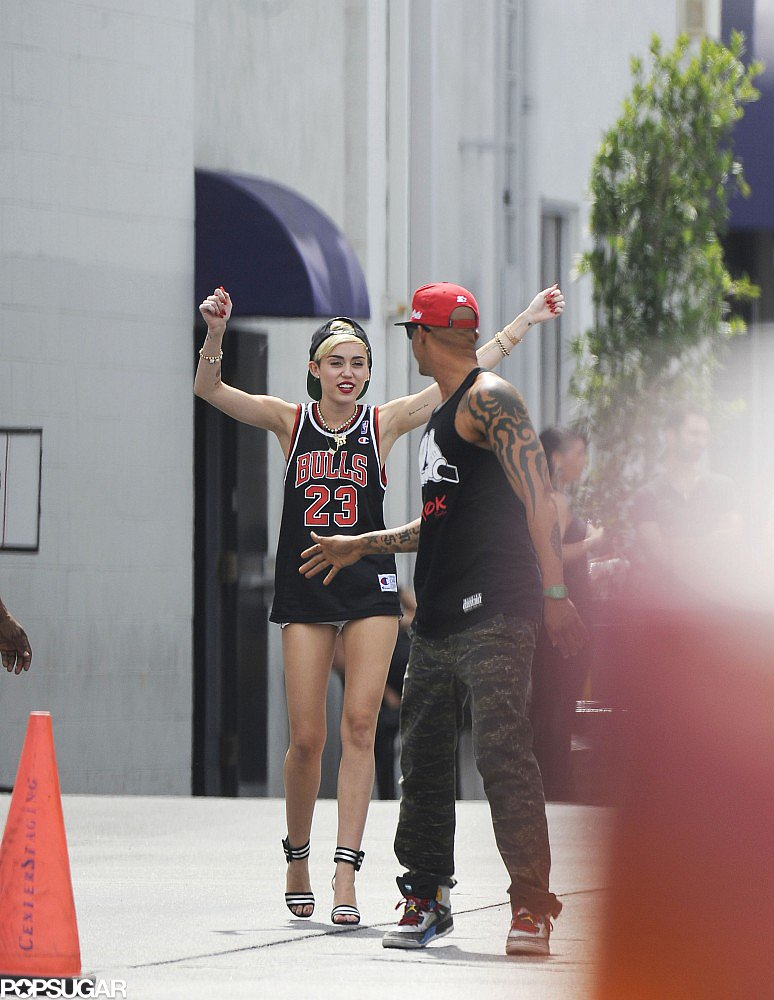 Miley Cyrus joked around with her pal.