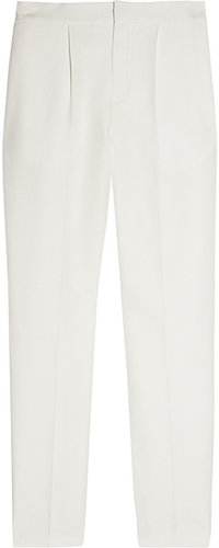 Chloé Cropped linen and cotton-blend straight-leg pants