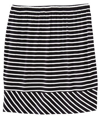 Merona® Women's Elastic Waist Mini Skirt - Assorted Stripes