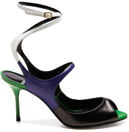 Preorder Pierre Hardy White, Blue, And Green Sandal