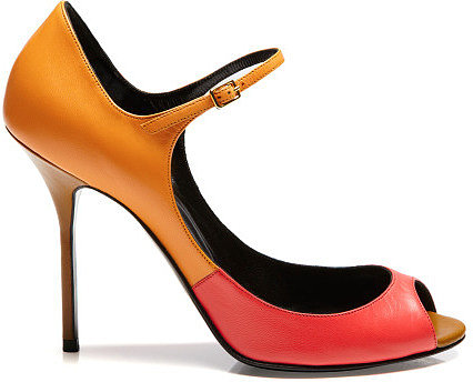 Preorder Pierre Hardy Tricolor Orange Mary Jane