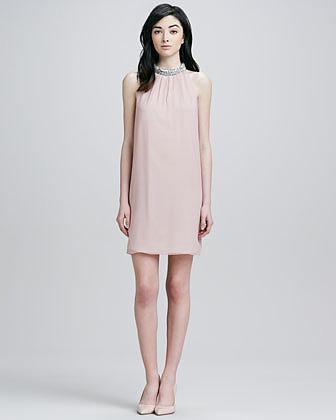 Diane von Furstenberg Lainey Jeweled Halter Dress