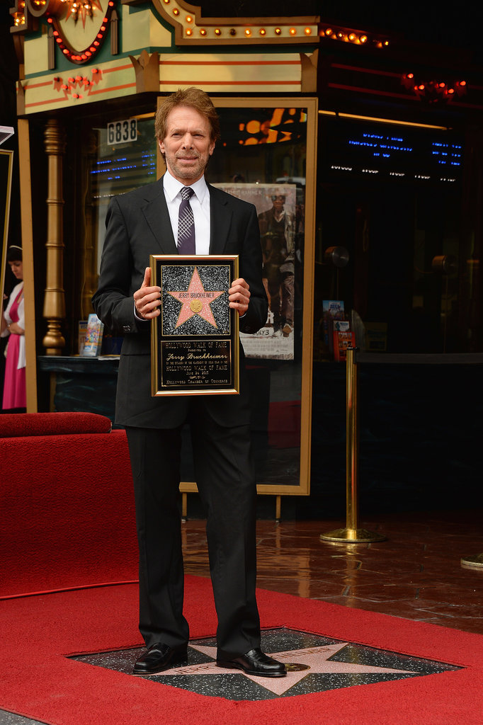 Jerry Bruckheimer received the 2,501st star on the Hollywood Walk of Fame in LA on Monday.