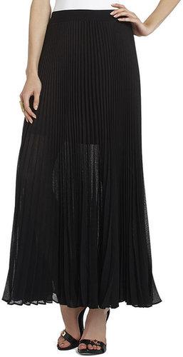 Estel Sunburst Pleated Maxi Skirt