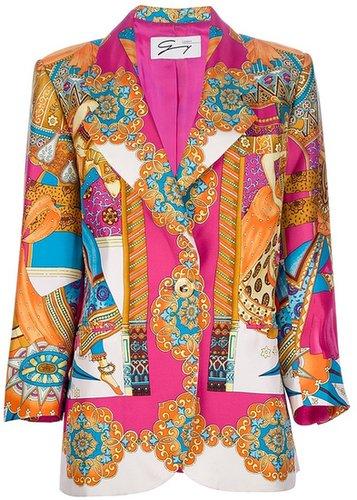 Genny By Gianni Versace Vintage printed silk blazer