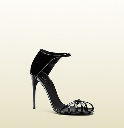 Margot Patent Leather Cage Sandal