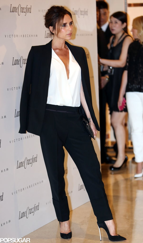 Victoria Beckham made an appearance at the Lane Crawford department store in Beijing.