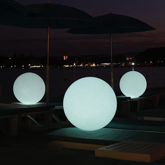 This playful Globe LED Indoor Outdoor Lamp $299 can be